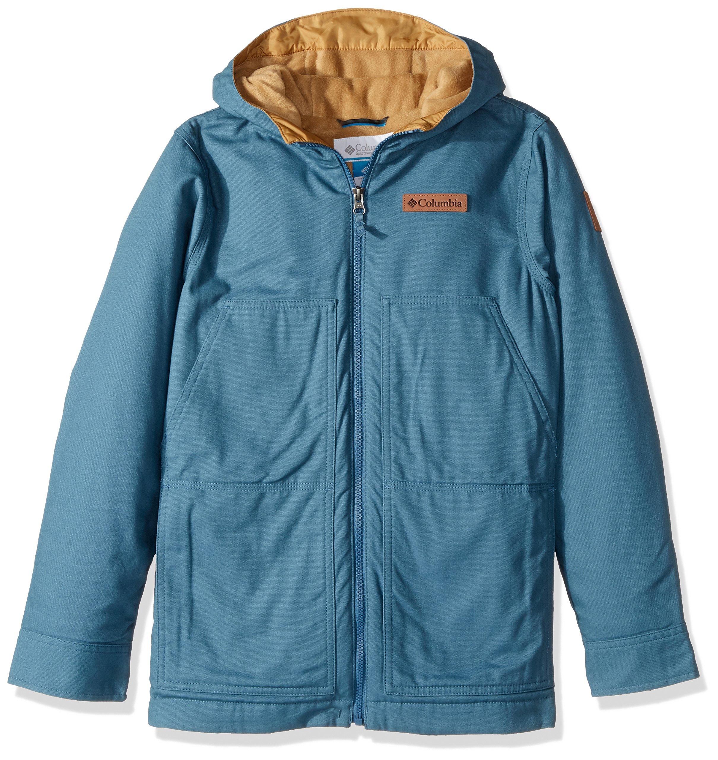 Columbia Boys' Big Loma Vista Hooded Jacket, Blue Heron, Medium