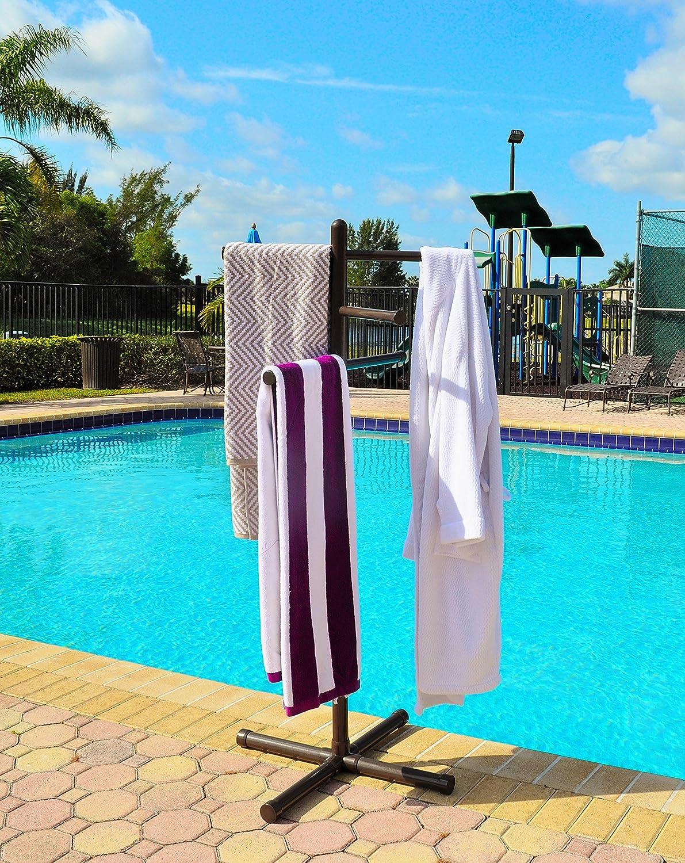 Amazoncom Pool Spa Towel Rack Bronze Premium Extra Tall Towel