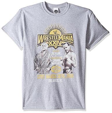 0958a09f74f Amazon.com  WWE Men s RIC Flair Vs Shawn Michaels T-Shirt  Clothing