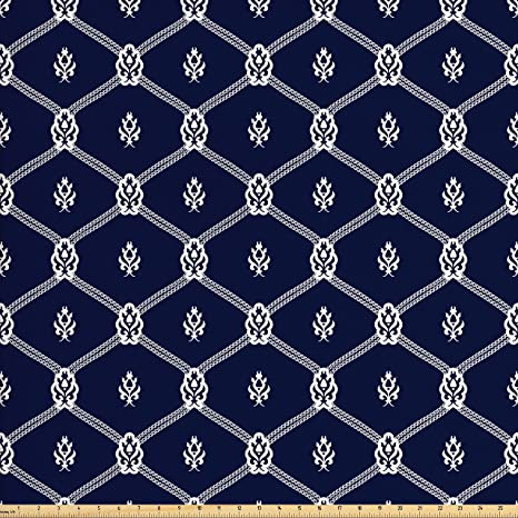Amazon Com Ambesonne Geometric Fabric By The Yard Ornamental