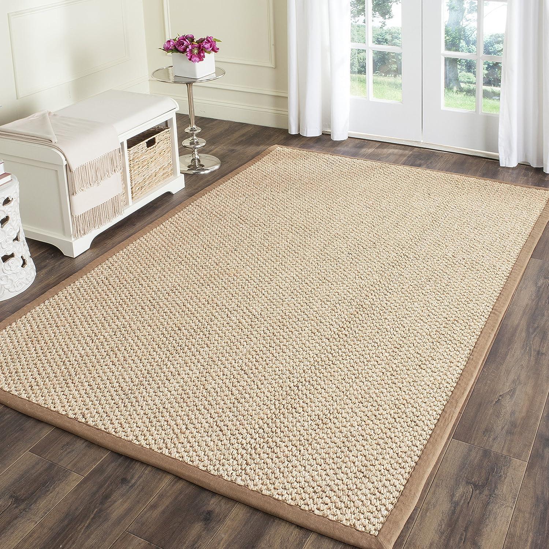 Amazon Com Safavieh Natural Fiber Collection Nf525b Premium Sisal Area Rug 8 X 11 Natural Furniture Decor