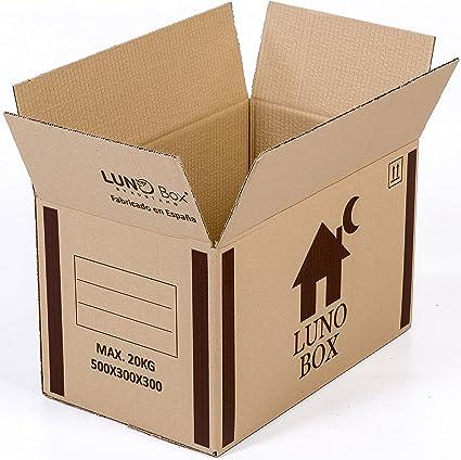 Cajas de Cartón Mudanza Pack de 10 - Canal Simple de Calidad Superior - Tamaño 500 x 300 x 300 mm - Mudanza - Embalaje - Almacenaje - Color Marrón - Fabricadas en España: Amazon.es: Oficina y papelería