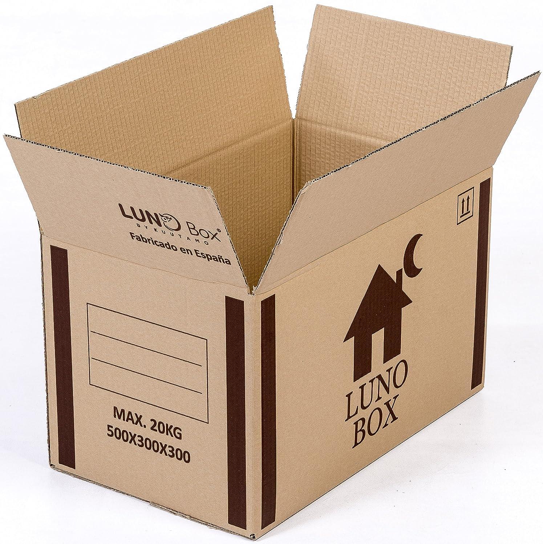 Cajas de Cartón Mudanza Pack de 10 - Canal Simple de Calidad Superior - Tamaño 500 x 300 x 300 mm - Mudanza - Embalaje - Almacenaje - Color Marrón - ...