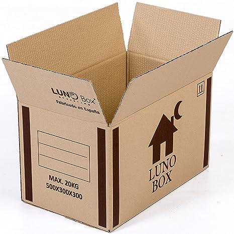 Cajas de Cartón Mudanza Pack de 10 - Canal Simple de Calidad Superior - Tamaño 500