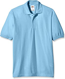 cdd40286 Fruit of the Loom Unisex Kids 65/35 Short Sleeve Polo Shirt: Amazon ...