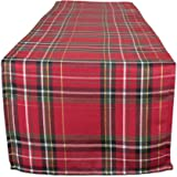 DII CAMZ10898 超大金属餐巾,非常适合晚会、圣诞节、假日或日常使用,20x20,奶油格纹 6 件装