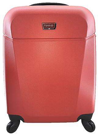 Maleta Equipaje de mano cabina rígida ligera con 4 ruedas, 55cm, TERRAE, color ROJO: Amazon.es: Equipaje