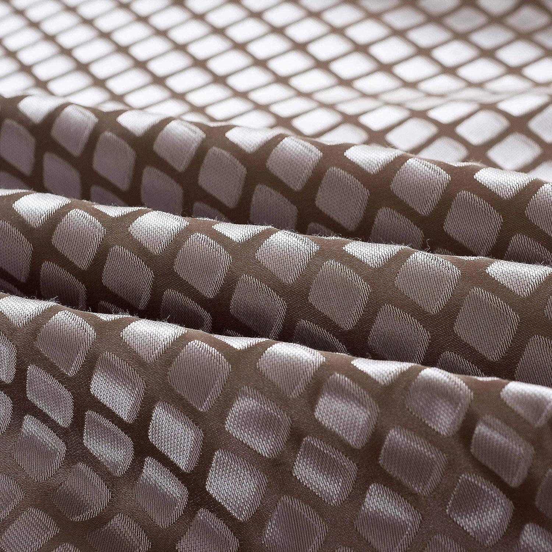 OSVINO Coureurs de Lit Jacquard Noble Classique Chemin de Lit Bed Runner Large Grand Taille Marron 260X155cm pour 200cm lit