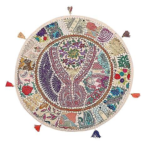 Amazon.com: Tradicional de algodón indio cojín de piso ...