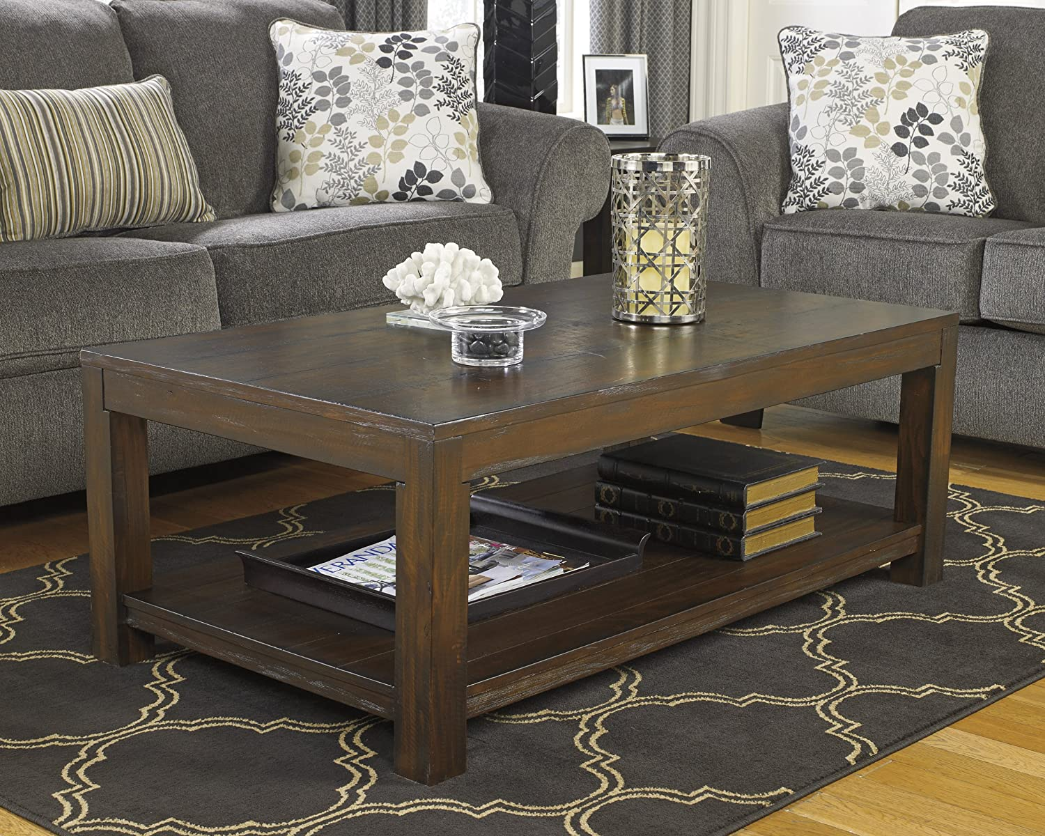 Amazon.com: Ashley Furniture Signature Design - Grinlyn Coffee Table ...