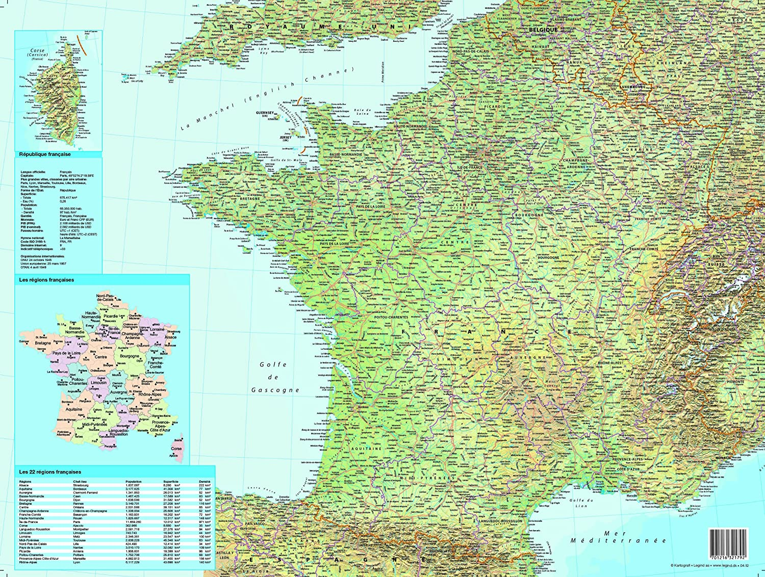 Map Of France 1500.Esselte Desk Pad With Map Of France 40 X 53cm French Language