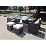 belgravia london rattan 7 teiliges garten rattan gartenm bel set. Black Bedroom Furniture Sets. Home Design Ideas