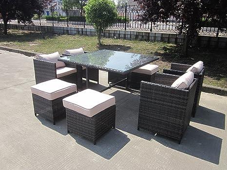 Mobili da esterno per giardino e veranda in vimini rattan set