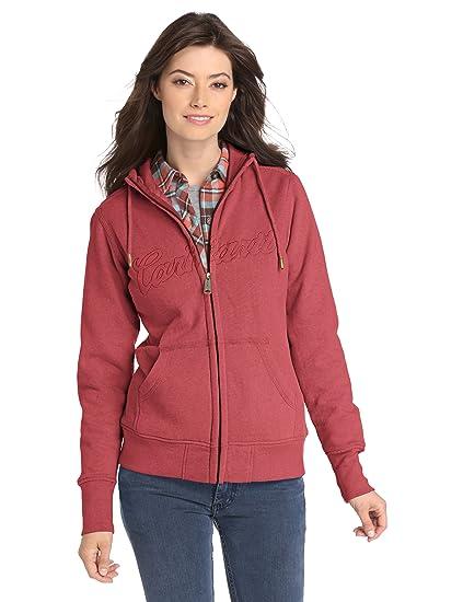 Zip Clarksburg 100704 Front Sweatshirt Carhartt Women's 3jLR54A