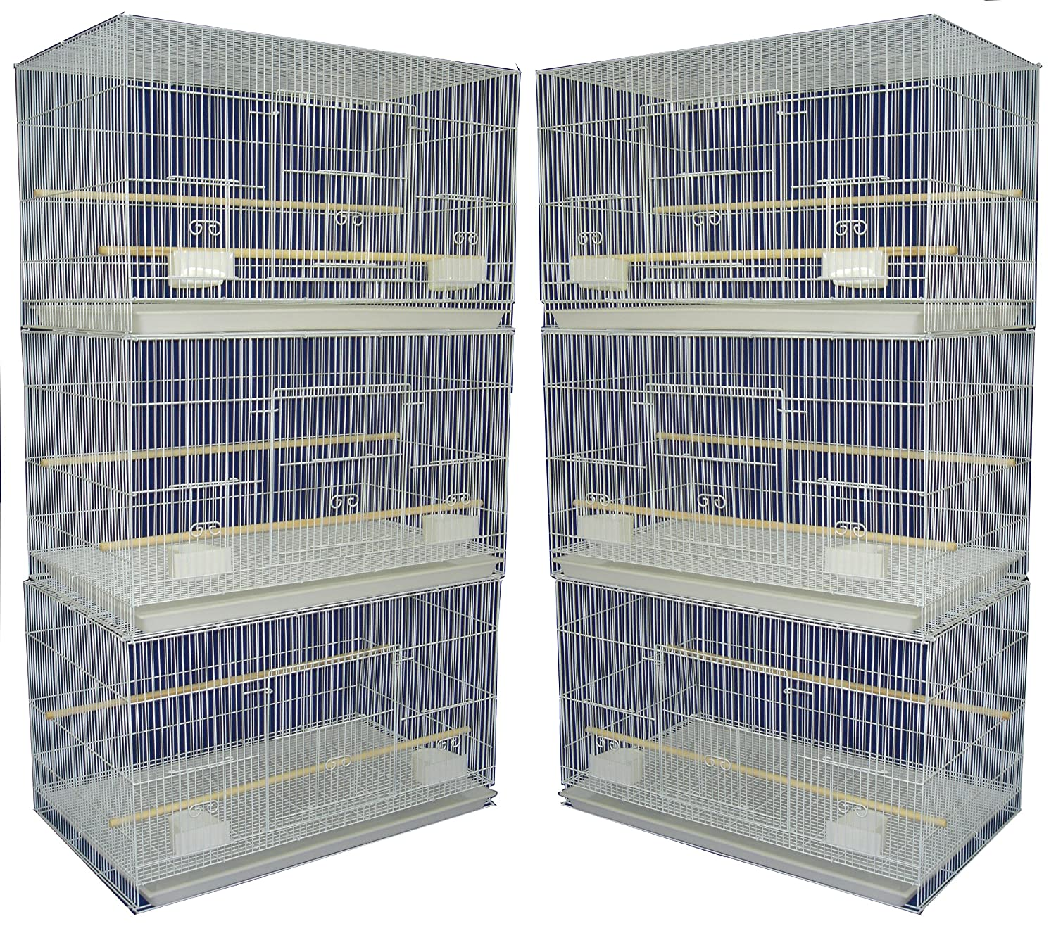 YML Small Breeding Cages, Pack of 6, White YML GROUP INC 2424WHT