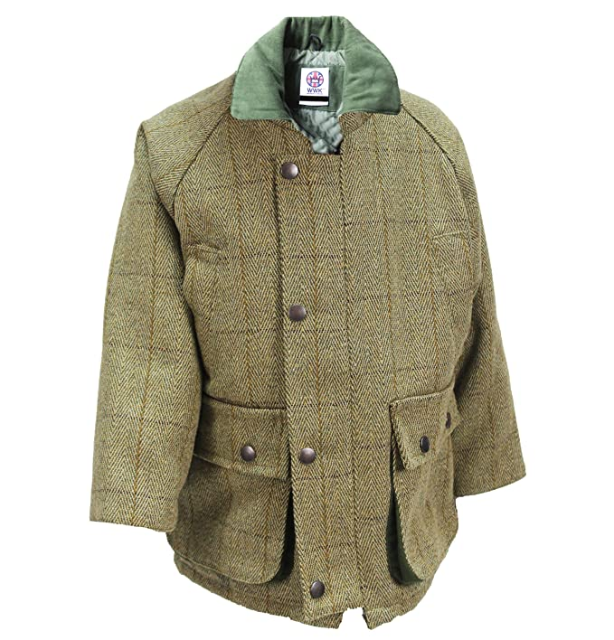 Vintage Style Children's Clothing: Girls, Boys, Baby, Toddler Kids Childrens Derby Tweed Jackets Breathable Waterproof Shooting Hunting by WWK / WorkWear King £34.99 AT vintagedancer.com