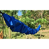 Hammock Protective Sock by Hammock Sky - Adds Years to Your Hammock - Protects from Water, Dirt & Fading - Eliminates Need to Store After Each Use - Fits All Non-Spreader Bar Hammocks (Blue)