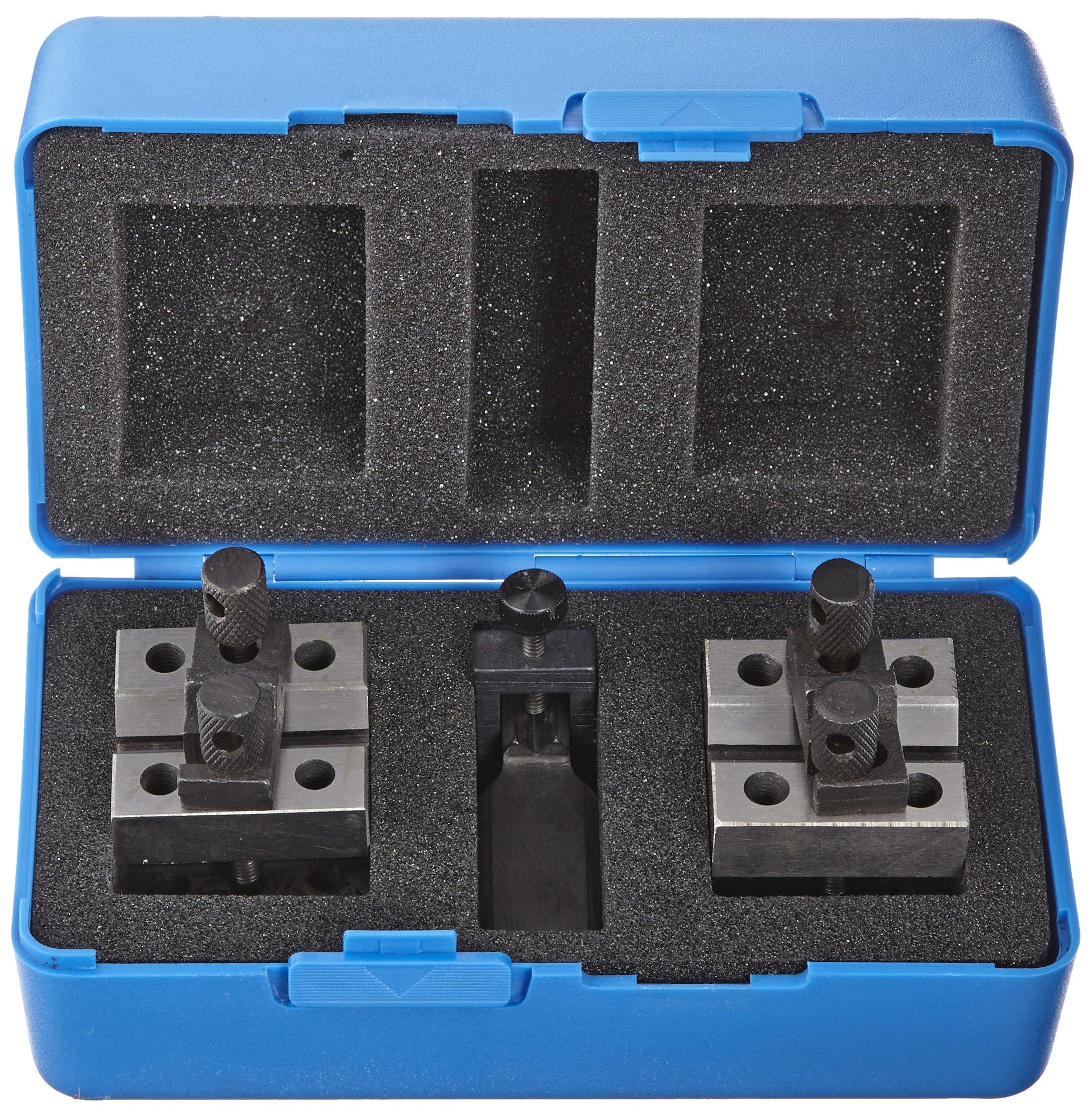 Fowler 52-475-025 Chrome Steel X-BLOX-JR Precision V-Block Set, 0.030'' - 1.285'' Set Capacity