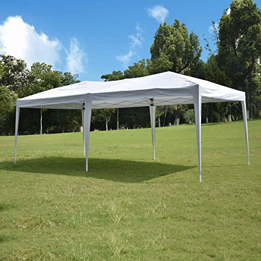 Usinso 10 x 20, Carpa Blanca Resistente Ez Pop Up Gazebo ...