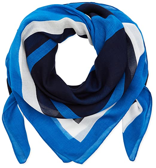 Womens Geo Tommy Scarf, Blue (Corporate 901), (Manufacturer Size: One Size) Tommy Hilfiger