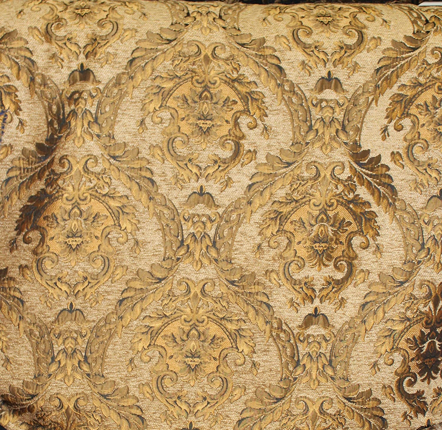 Amazon Com Damask Tapestry Chenille Fabric Upholstery Fabric L