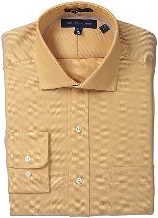 """1fcc64df Tommy Hilfiger Men's Regular Fit Non Iron Royal Oxford Solid, Burnt Orange,  15"""""""