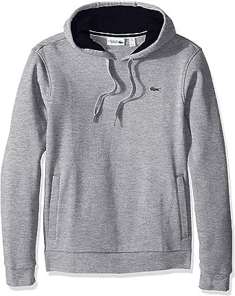 Lacoste Men's Sport Pull Over Hoodie Fleece Sweatshirt, SH2128