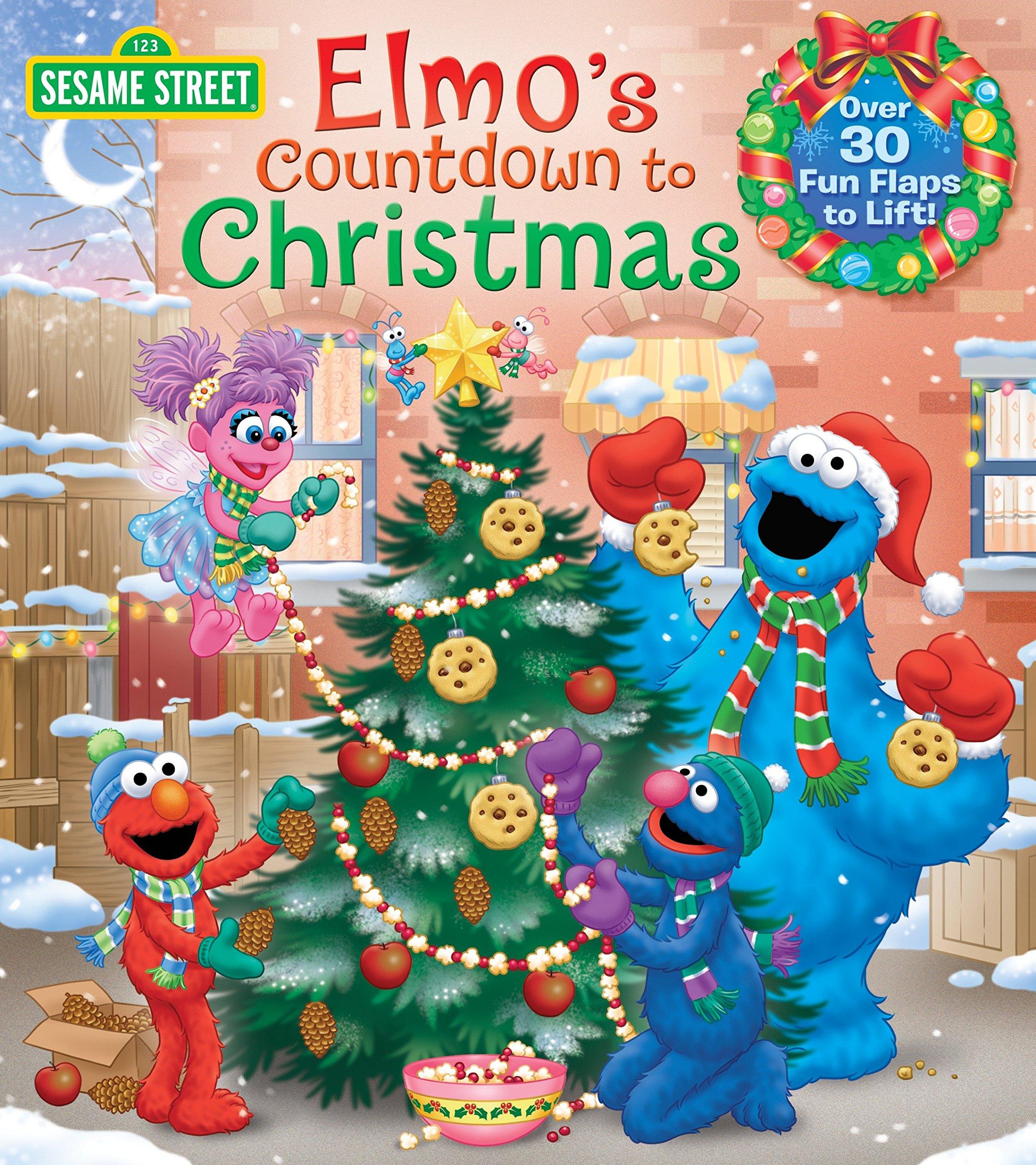 Amazon Com Elmo S Countdown To Christmas Sesame Street Lift The Flap 9780399552137 Kleinberg Naomi Brannon Tom Books