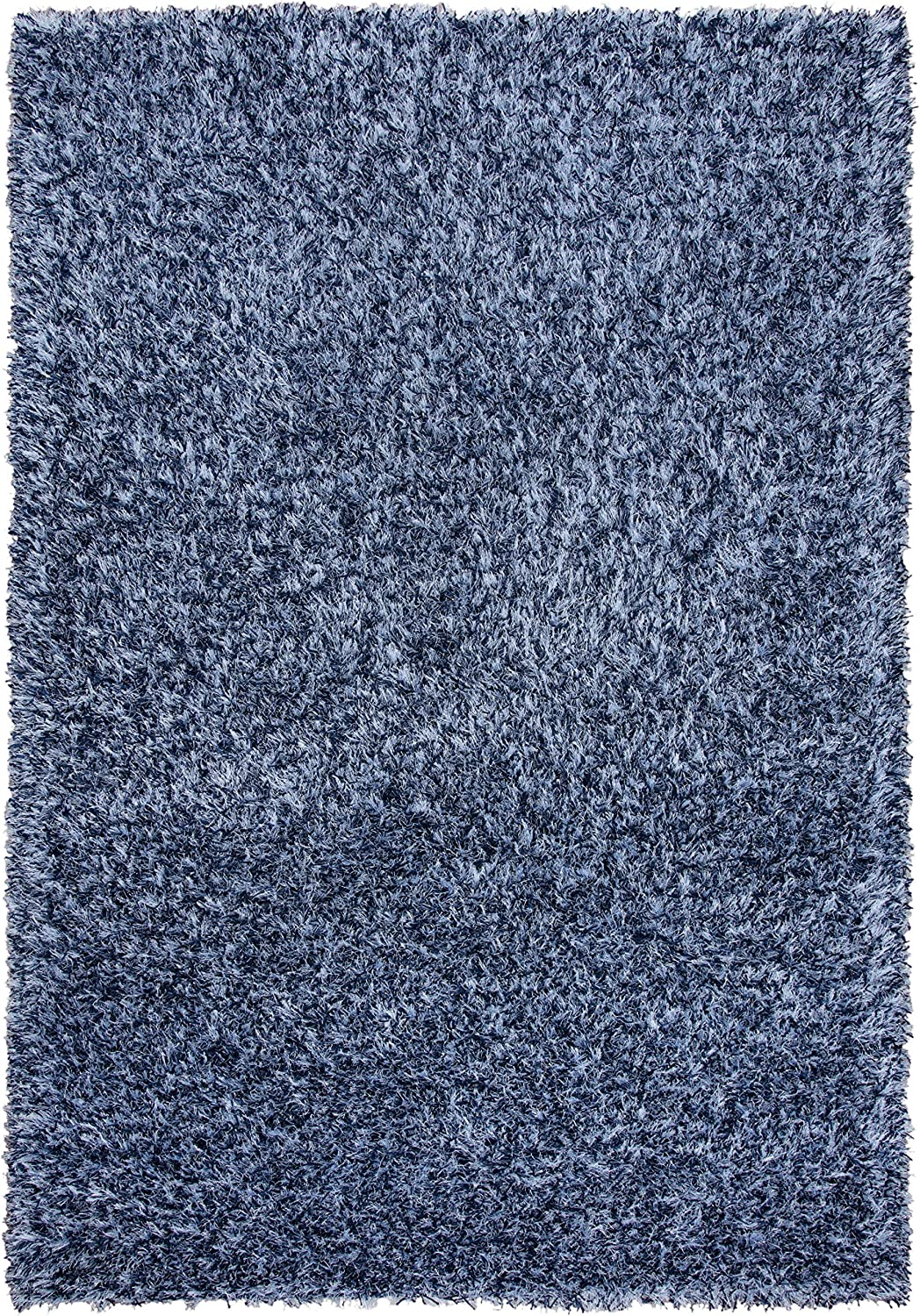 "Rizzy Home Urban Dazzle Collection Polyester/Lurex Area Rug, 7'-6"" x 9'-6"", Blue"