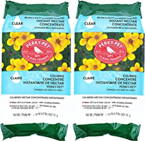 Perky-Pet 244Clsf 2 lb Instant Clear Hummingbird Nectar - 2 Pack