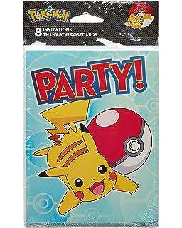 Amazon american greetings pokemon invitations 8 count toys american greetings pokmon 8 count combo invitethank you pack 2 m4hsunfo