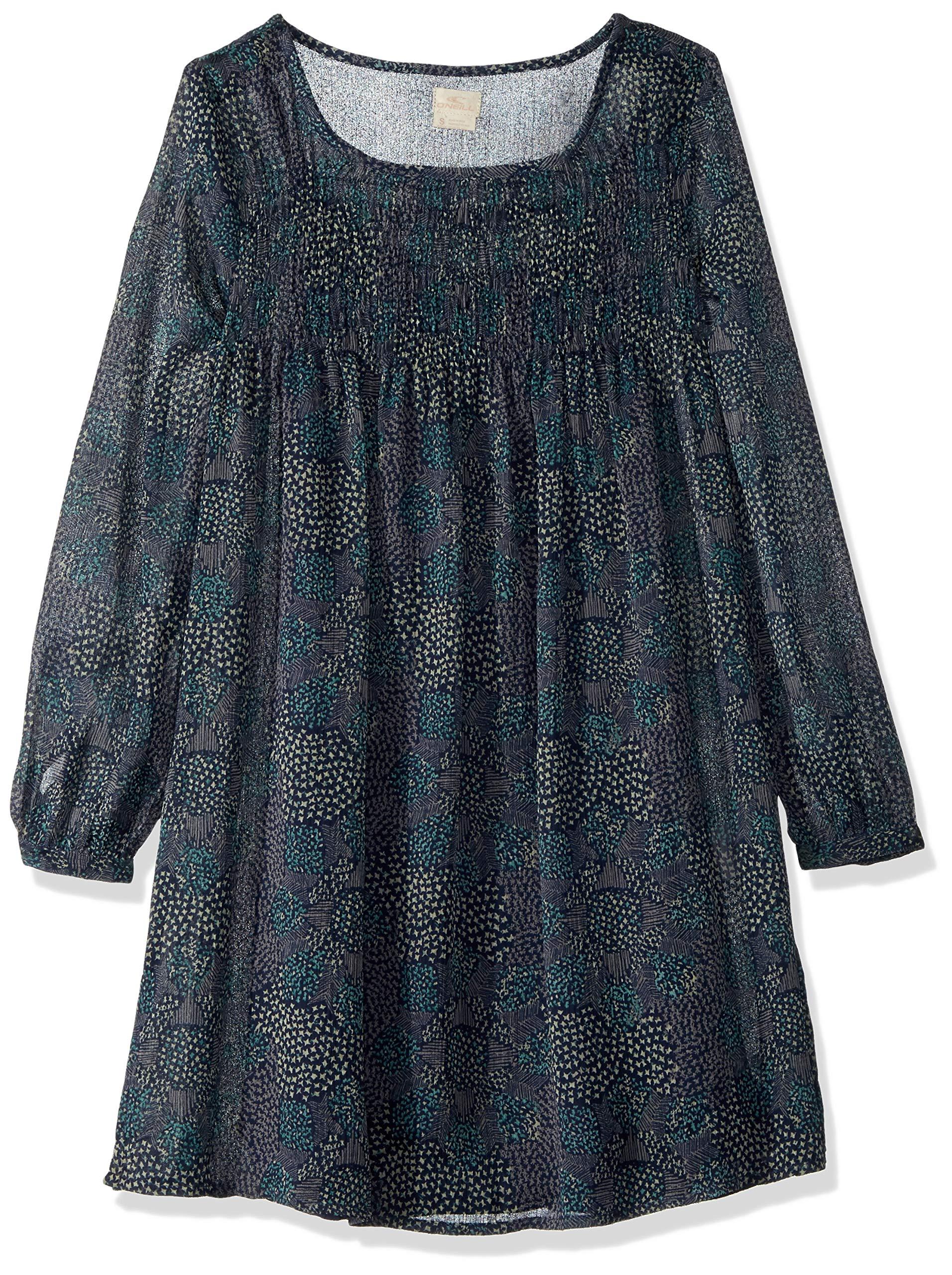 O'Neill Girls' Big Summer Dress, Mood Indigo, M
