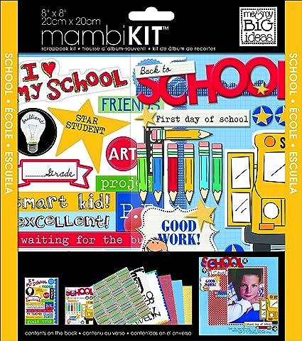 Amazon Me My Big Ideas Scrapbook Page Kit I Heart My School