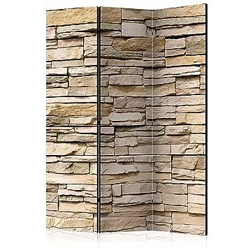 murando Biombo Piedras 135x172 cm - de Impresion Bilateral en el Lienzo de TNT de Calidad - Decoracion Cuarto - Biombo de Madera con Imagen Impresa Beige ...