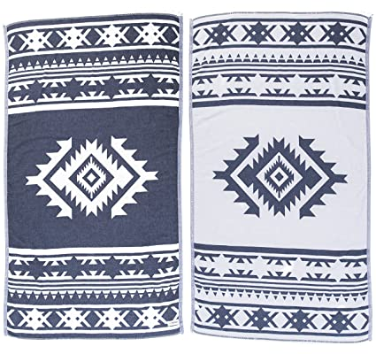 Bersuse 100% Algodón - Cozumel Toalla Turca - De doble capa - Fouta Peshtemal para