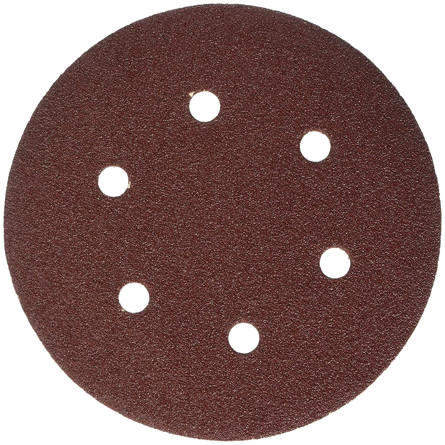 Connex COM108060 Easy-Fix Perforated for Eccentric Grinders Sanding Disc, Brown, 150 mm/Size K60, Set of 6 Pieces Conmetall