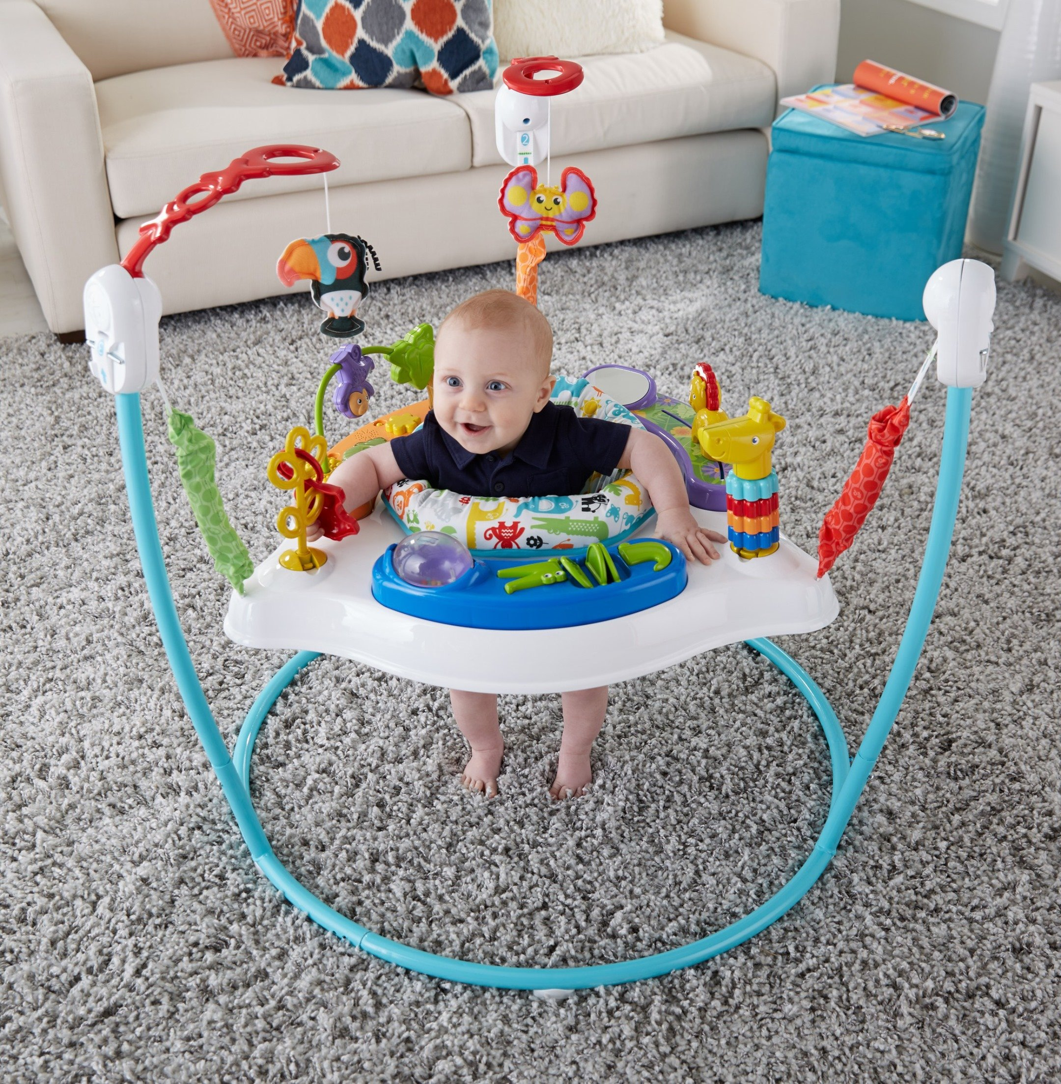 Fisher-Price Animal Activity Jumperoo, Blue by Fisher-Price (Image #1)