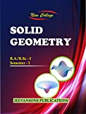 New College Solid Geometry For B.A./B.Sc. I (1st Semester)