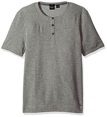 9d7ef5929 Amazon.com: BOSS Orange Men's Short Sleeve Cotton Waffle Henley: Clothing