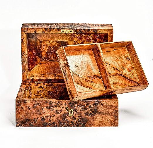 Bazaardi - Caja de Madera Tallada a Mano con Caja de ...