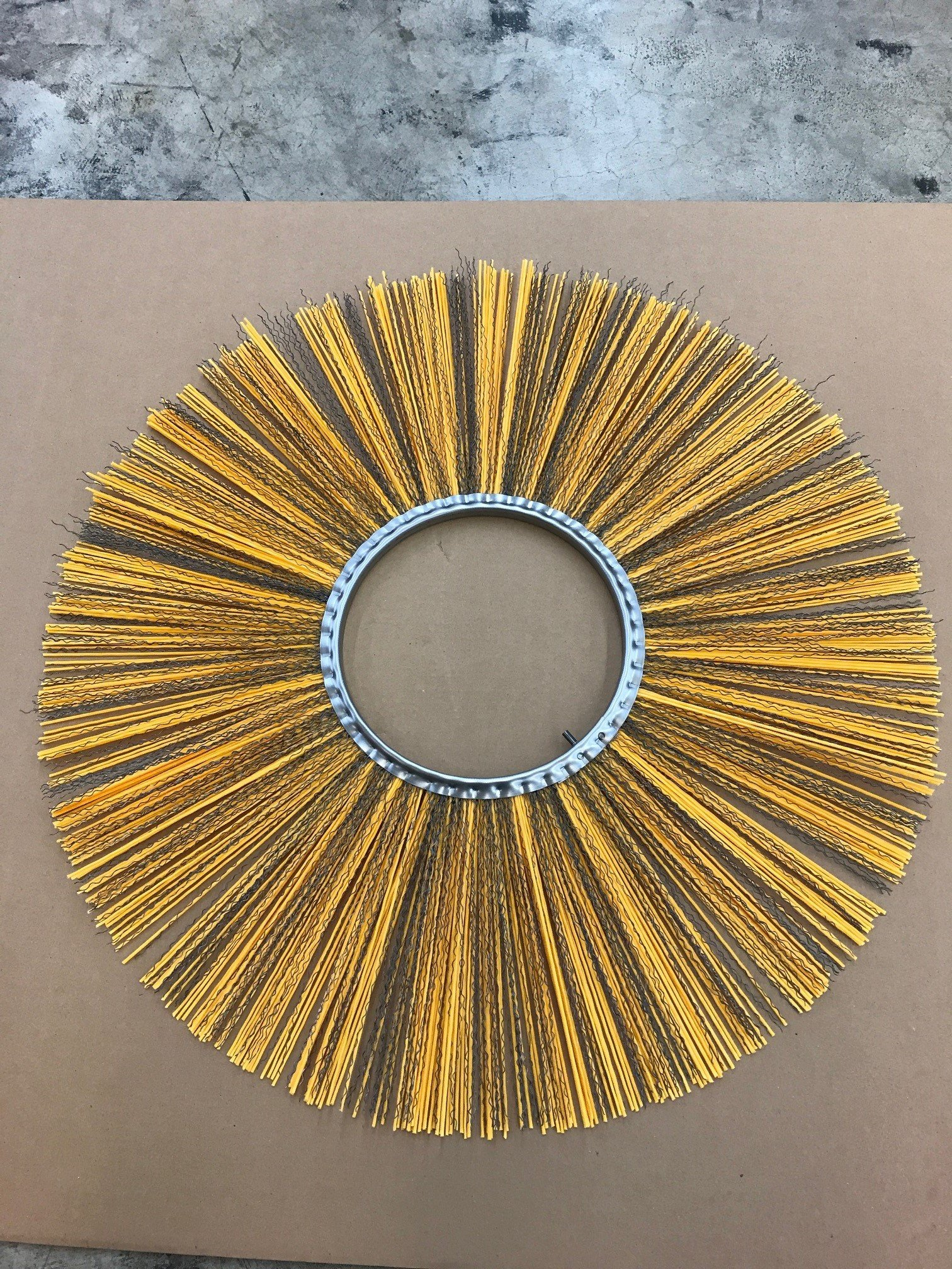 M-B Tough Brush - 32'' x 10'' Flat Combo (Poly & Wire) Wafers with Spacers. Replacement Brushes for Various Sweeping Brooms and Machines.
