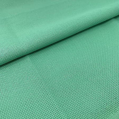 Tela para Punto de Cruz | 75cm x 50cm | 5,5 puntos/cm – 14 cuentas | 100% algodón | Elige color | de Delicatela (Verde Claro): Amazon.es: Hogar