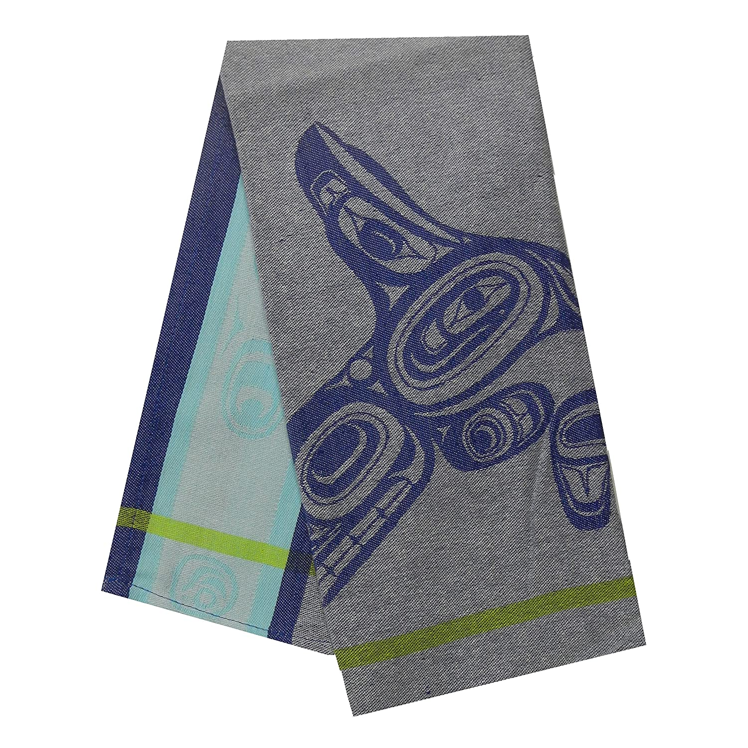 Native Northwest Tea Towel with Whale design