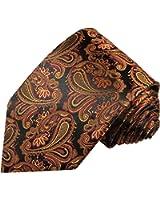 Cravate homme noir marron motif cachemire 100% cravate en soie ( longueur 165cm )