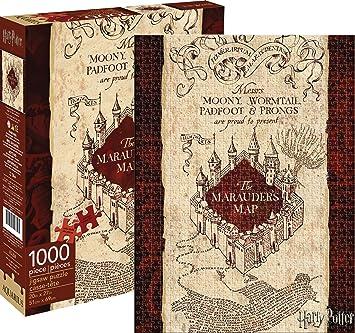 Aquarius Harry Potter Marauders Map Puzzle Piece - Canada map puzzles