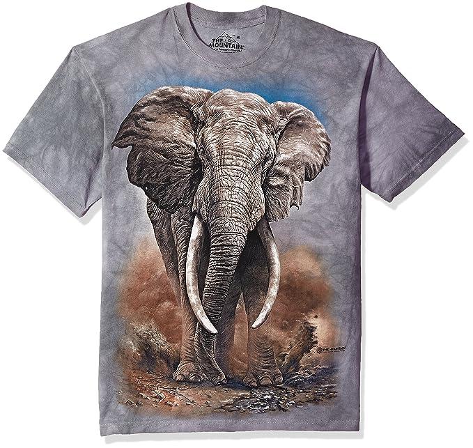 ef105c30b1f6 Amazon.com  The Mountain Adult Unisex T-Shirt - African Elephant ...