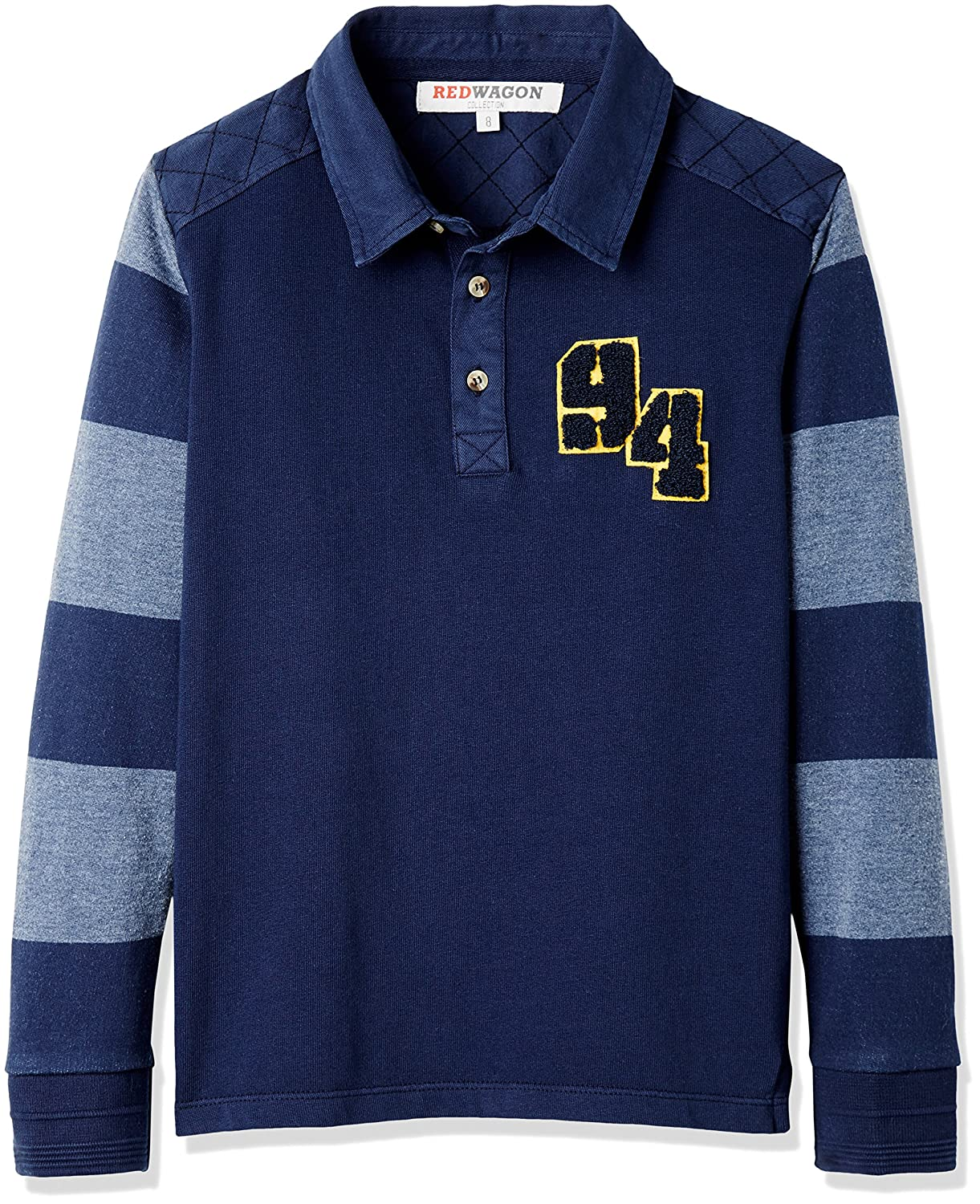 RED WAGON Boy's Striped Rugby Polo