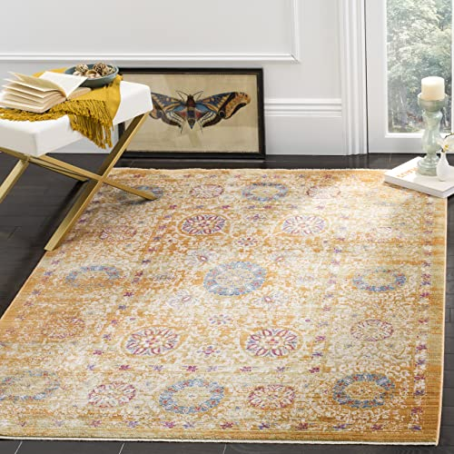 Safavieh Sutton Collection SUT402C Area Rug, 9 x 13 , Gold Ivory