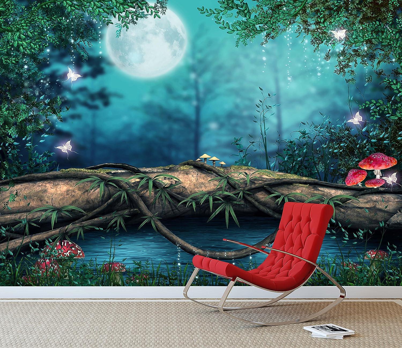 Fantasy Enchanted Fairy Pond Wall Mural Photo Wallpaper Girls