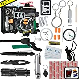 Emergency Survival Kit UPGRADED #1 BEST 43 in 1 Tools Outdoor Gear For Camping EDC Hiking Disaster Preparedness With First Aid Supplies Your Tactical Off Grid Bug Out Bag Tool Box